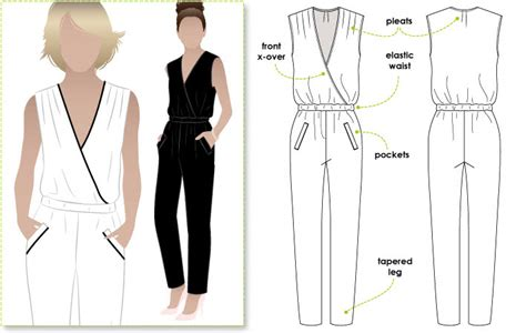 pattern making of jumpsuit style arc carly jumpsuit thornberry