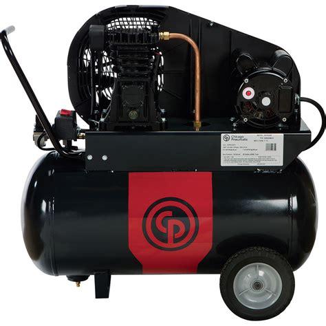 chicago pneumatic reciprocating air compressor 2 hp 20 gal 115 230v 1 phase ebay
