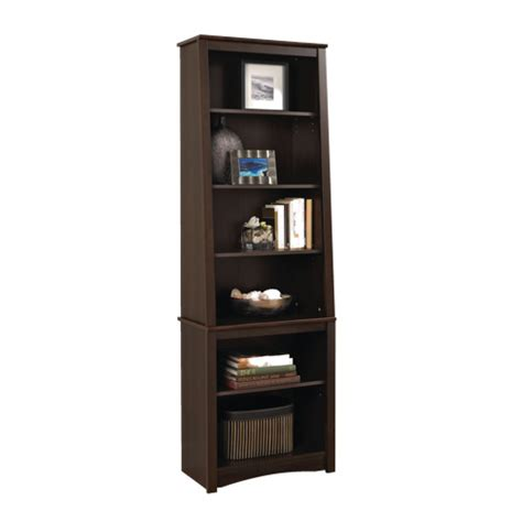 80 quot bookcase espresso brown bookcases shelving