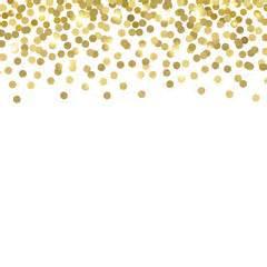 Pieces of metallic gold glitter and confetti vector illustration
