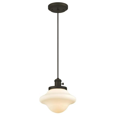 Bronze Mini Pendant Light Westinghouse 1 Light Rubbed Bronze Mini Pendant 6346500 The Home Depot