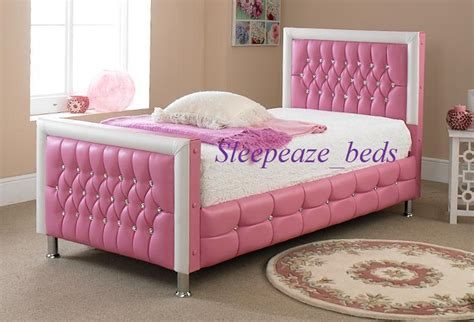 pink beds pink leather bed with mattress memory foam single king size bed frame ebay