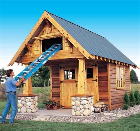 two story shed playhouse plans woodideas