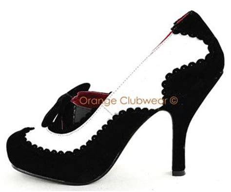 gangster high heels pleaser womens velvet spectators 20s vintage gangster