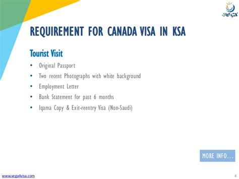 VISA REQUIREMENTS   Saudi Arabia to Canada   Tourist/Visit