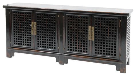 Sideboard 4 Door With Marble Black Asian Buffets And Asian Sideboards And Buffets