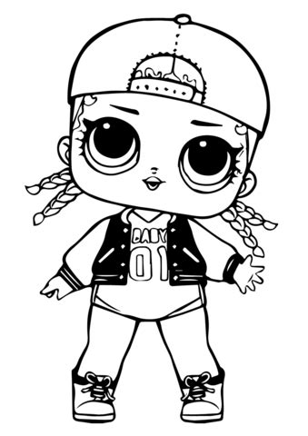 lol doll mc swag coloring page  printable coloring pages