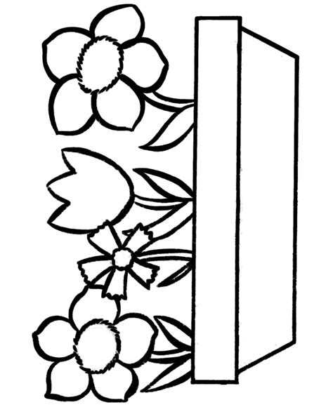 coloring pages of simple flowers coloring pages easy coloring pages free printable