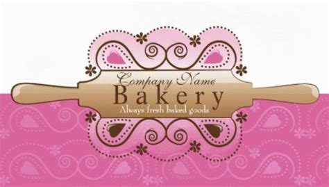 rolling pin and whisk business card template pimk girly bakery and confectionery business cards girly