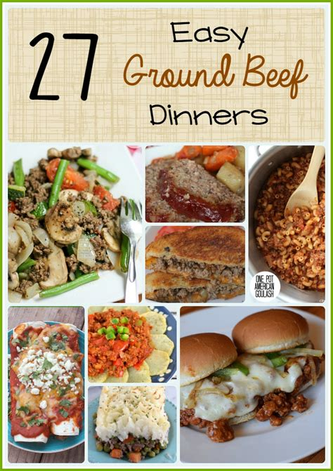 easy ground beef dinner recipes penny pincher jenny