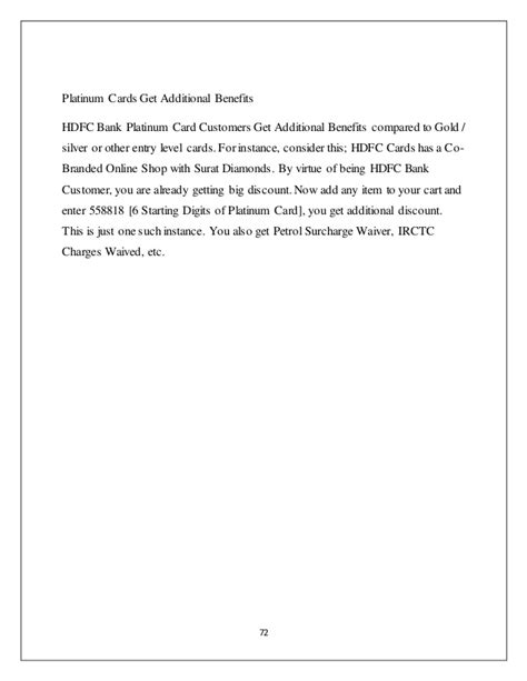Credit Card Surcharge Letter Template by Credit Card Special Preference To Hdfc Bank