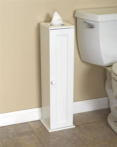 Stand Up Toilet Paper Holder Storage Cabinet Reserve Extra Roll Tissue Toilet Paper