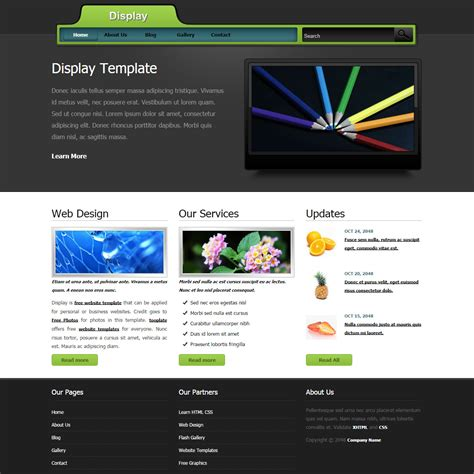 what are html templates display free html css templates