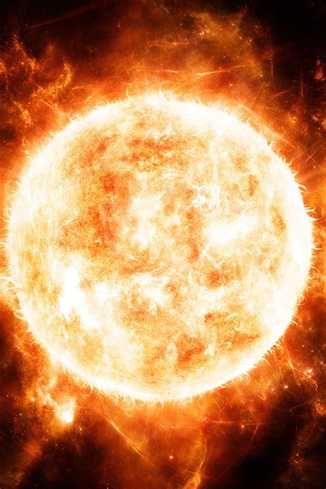 red hot sun close  iphone  gs wallpaper
