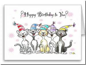 cat singing happy birthday card pictures reference