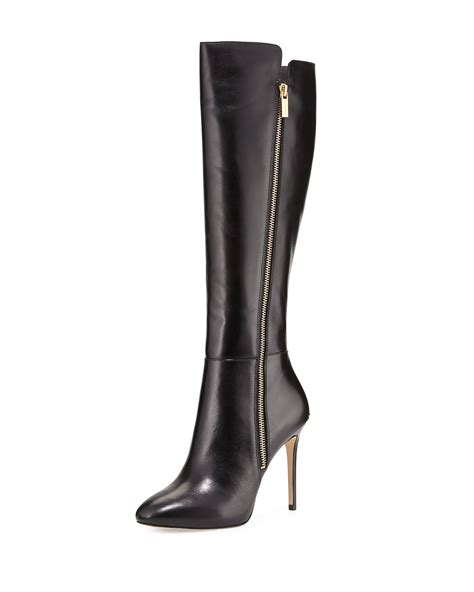 michael kors boots for michael michael kors clara leather knee high boots in