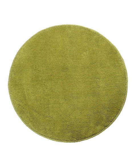 runder teppich kurzflor runder teppich gr 252 n baumwolle kurzflor teppich homescapes