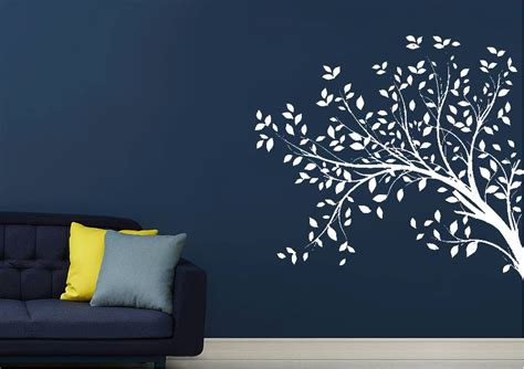 wall uk stickers leaves on a tree forest wall stickers adhesive wall sticker