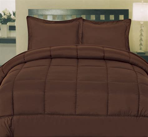 Home Design Alternative Color Comforters Solid Color Box Stitch 100 Polyester Alternative