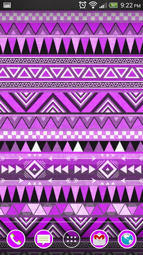 tribal pattern wallpaper for android purple tribal pattern wallpaper