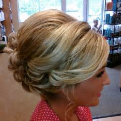 Bridal hair up down or somewhere in between a buttercream