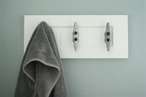 towel hooks bathroom i pinned it i did it nautical bathroom upgrades jabaayave