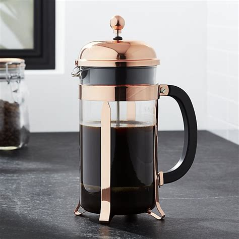Bodum 174 chambord copper 34 ounce french press crate and barrel