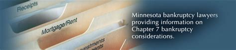 Minnesota Bankruptcy Search Chapter 7 Bankruptcy Considerations Chapter 7 Considerations Evaluation To Qualify
