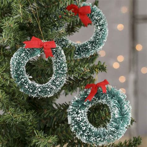 small frosted sisal christmas wreaths craft supplies
