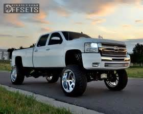 Chevrolet Truck Wheel Backspacing Wheel Offset 2008 Chevrolet Silverado 3500 Hd Hella Stance