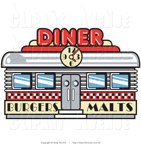 Retro Diner Le by Vintage Diner Signs Clipart Clipart Suggest