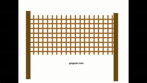how to adjust lattice fence panels wood fencing