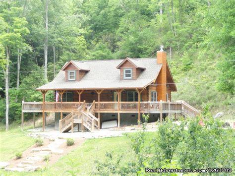 Rainbow Log Cabin Rentals by Luxury Cabin On Beautiful Mt 199 Nightly Topton