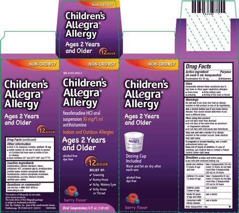 Dauky F Allecra childrens allegra allergy liquid