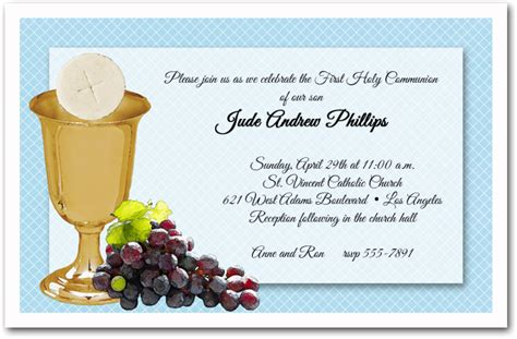 first communion invitation template best template collection
