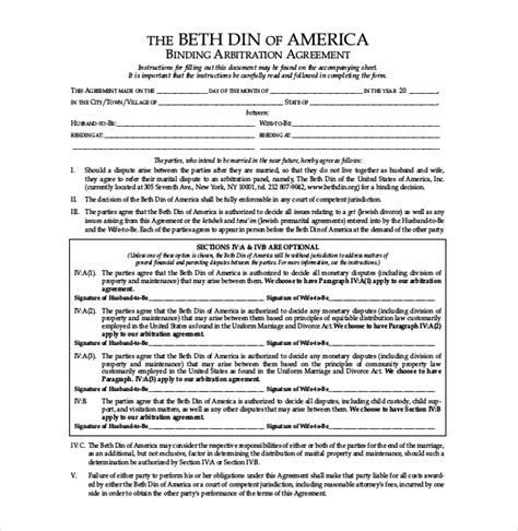 10 prenuptial agreement templates free sle exle