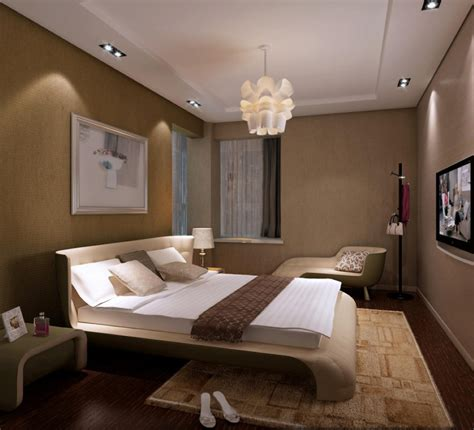 Interior Designs Sleek Small Bedroom With Unique Curved Bedroom Lighting