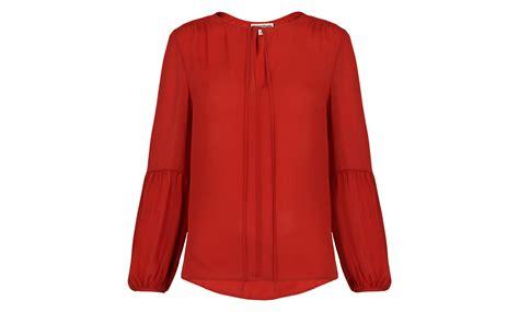 Blouse Batik Ismi Pink Orange Gi orange tie blouse blue denim blouses