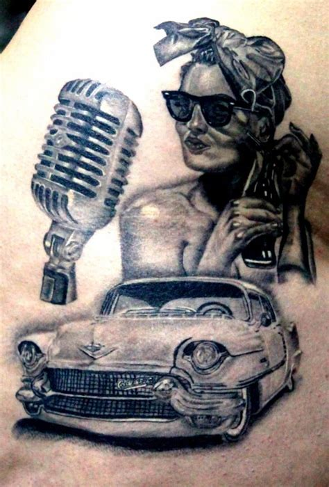 pin up tattoo realistic tattoo cadillac tattoo 50 s
