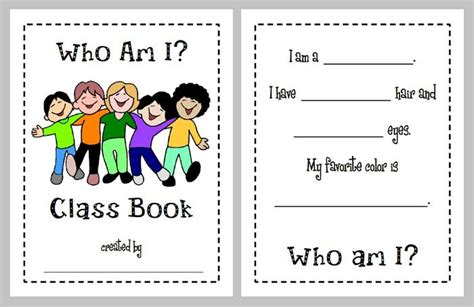 who am i books who am i back to school class book