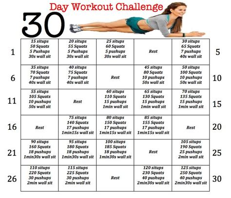 30 day home workout plan 25 best ideas about august workout challenge on pinterest