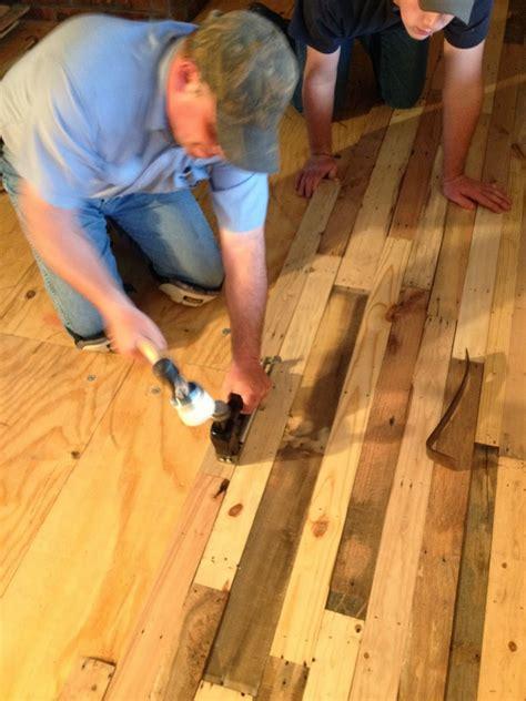 pallet wood flooring diy diy pallet flooring the owner builder network