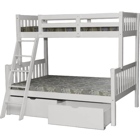 Bunk Beds With Ladder On The End Verona White Bunk Bed Beds With Drawers