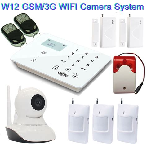 Cctv Gsm 3g home security system gsm 3g ip wireless sms with gsm alarm system siren
