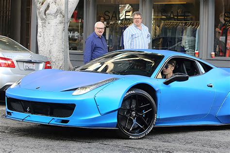 Justin Bieber Ferrari by Guess What The Winning Bid Was On Justin Bieber S First