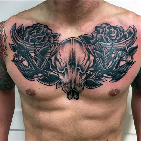 70 bull skull tattoo designs for men western ideas