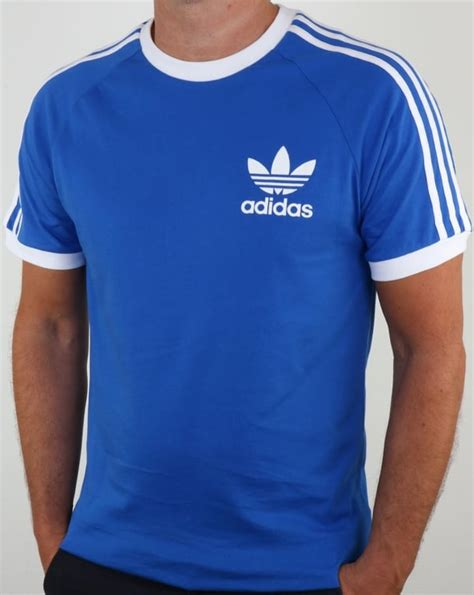 T Shirt Blur White Blue by Adidas T Shirt Blue California 3 Stripes Originals Mens