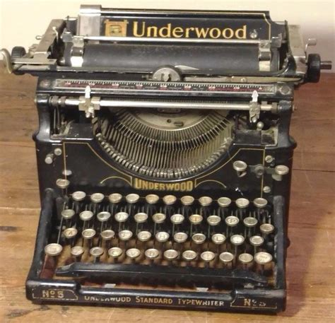 antique vintage underwood model no 5 typewriter what s