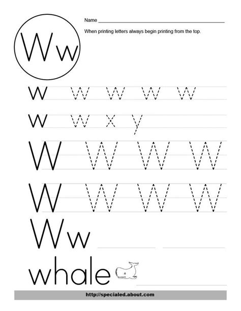 W Worksheets by Image Detail For Free Worksheet Activities For The Letter