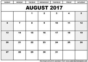 Calendar Html Template by 2017 August Calendar Template Weekly Calendar Template
